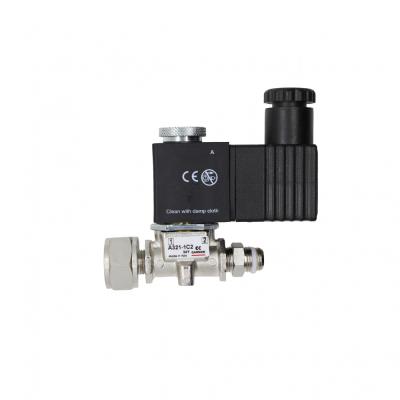 Магнитный клапан с электро-пневматическим минираспределителем, футоркой и проходным фитингом